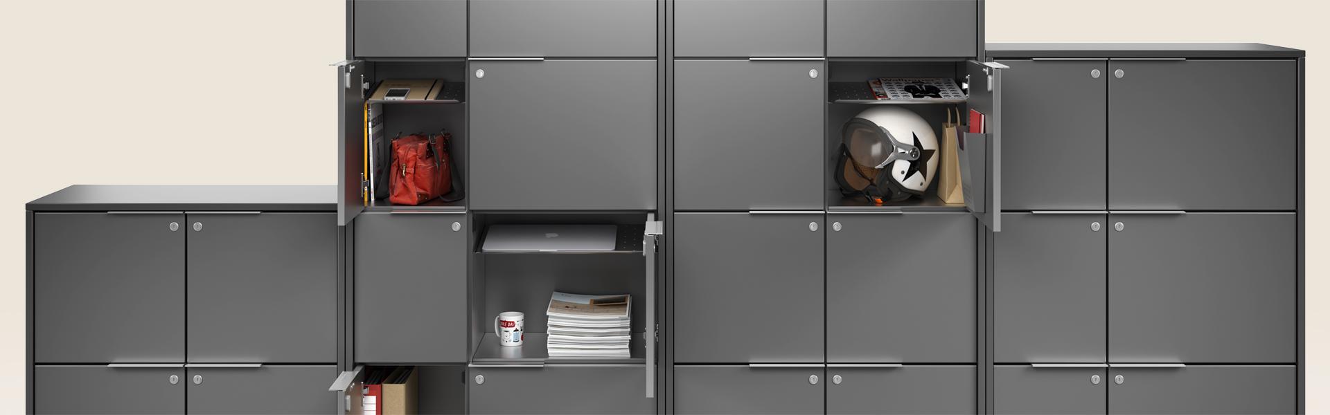 Frames, office lockers