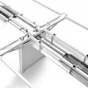 La doble viga estructural garantiza una excelente estabilidad.