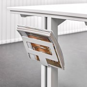 """Techline"" magazine rack accessory, for organising all kinds of documents, leaving usable space on the desk."