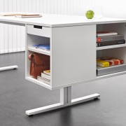 Suspended module that offers many organisation possibilities.