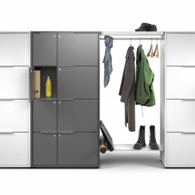 Frames, office lockers